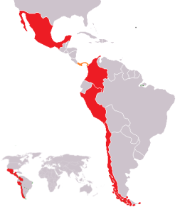 The Pacific Alliance Map